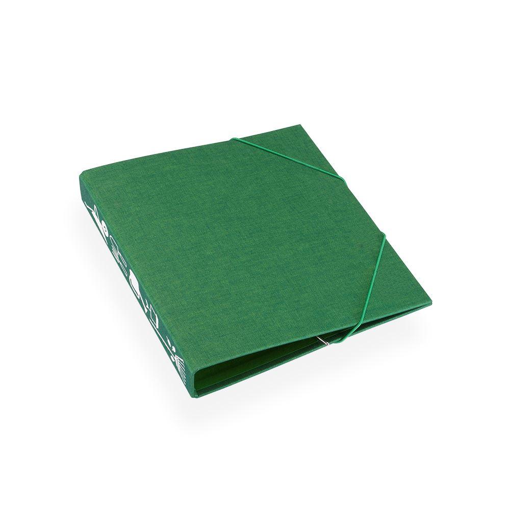 Vävklädd trädgårdspärm, grön
