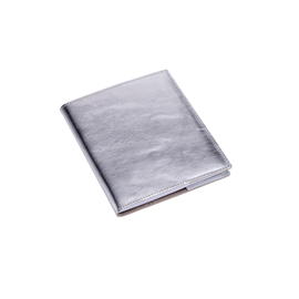 N. book A6+ leather cover Silver with refill unlined