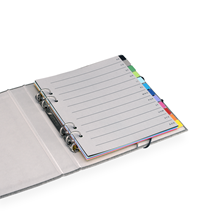 Tabs Multi color with grey Index 170x200