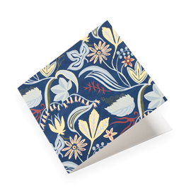 Folded card, Saro Blue