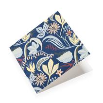 Folded card, Saro Blue