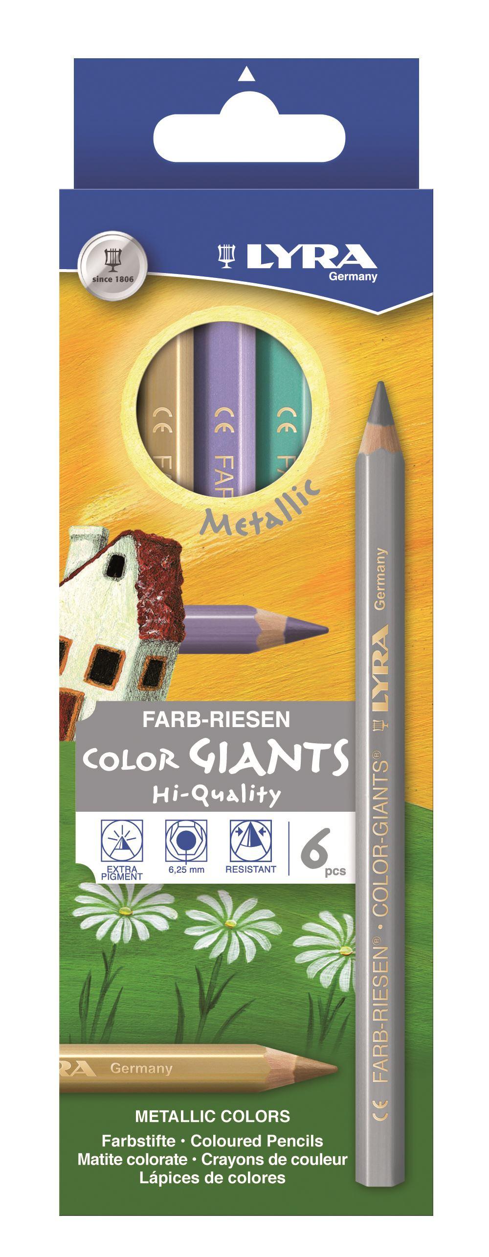 Boîte de 6 crayons de couleur