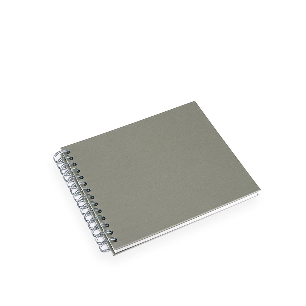 Photo album Linen-embossed 215x190 Paper Wire-o Mini Light Green