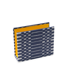 Letter rack,  Helios Blue with yellow inside