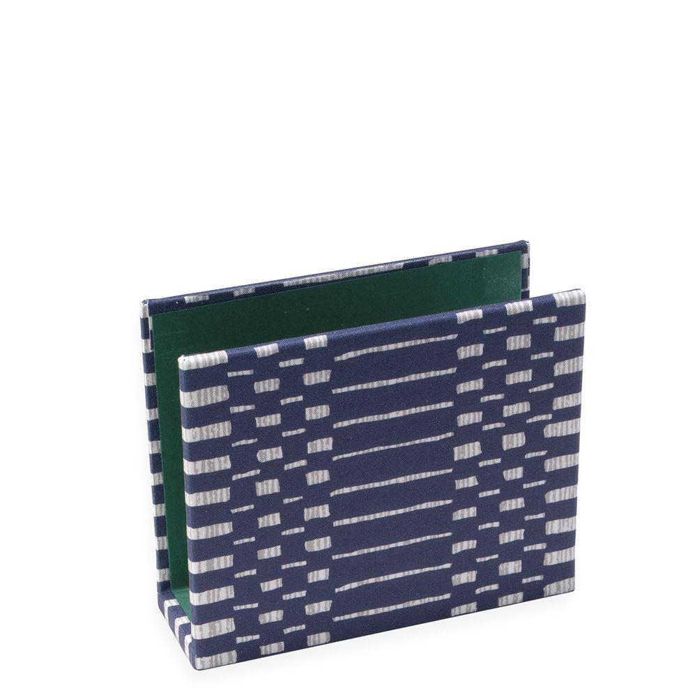 Vävklätt brevställ, Helios Blå med grön insida