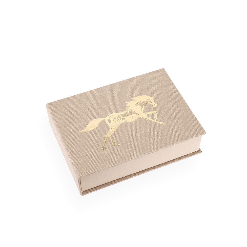 Boîte toilée, sand brown x Get the Gallop