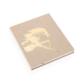 Notebook hardcover, Sand - Get the Gallop