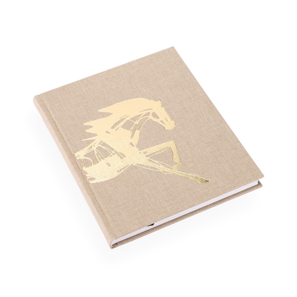 Notizbuch gebunden, Sand Brown - Get the Gallop