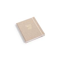Notizbuch mit Ringbindung, Sand brown - Get the Gallop