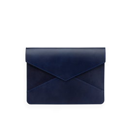 Kuvertformat Läderfodral, Mörkblå