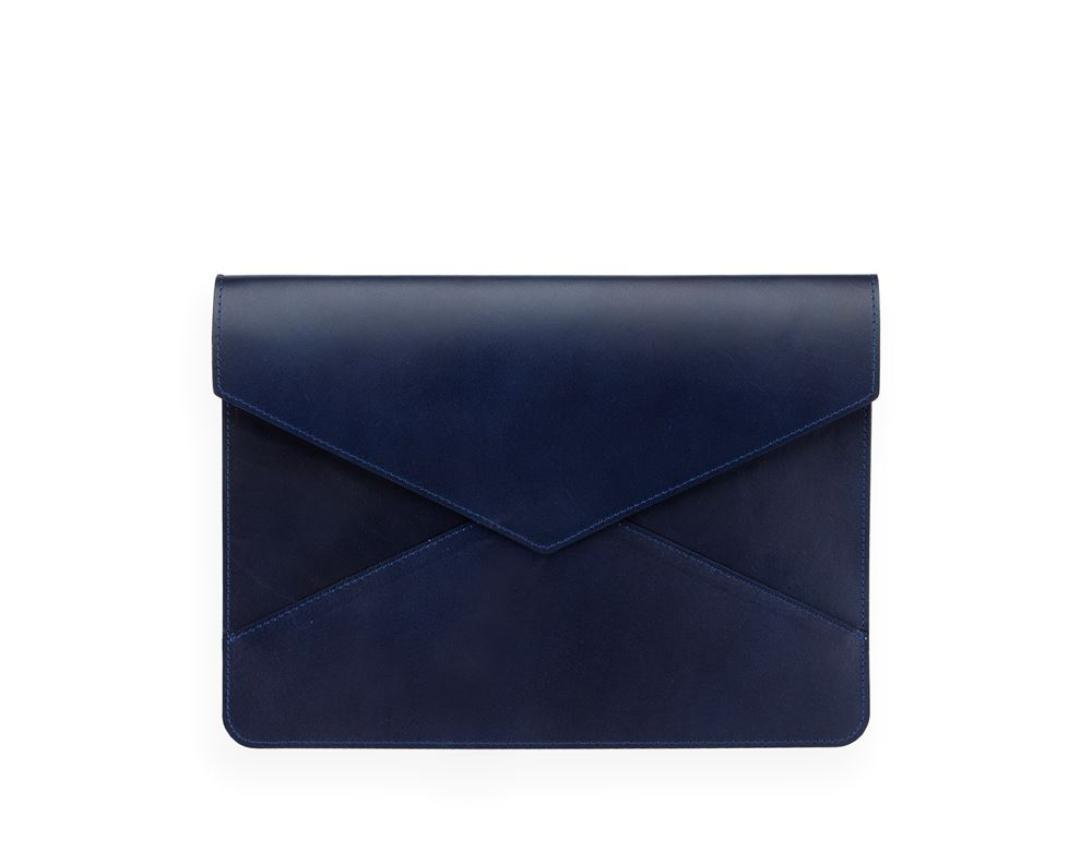 Envelope Leather Case, Dark Blue