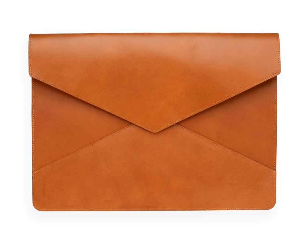 Envelope Leather Case, Cognac