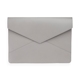 Enveloppe en cuir, Light grey