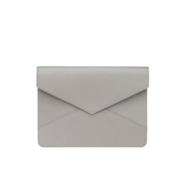 Kuvertformat Läderfodral, Ljusgrå