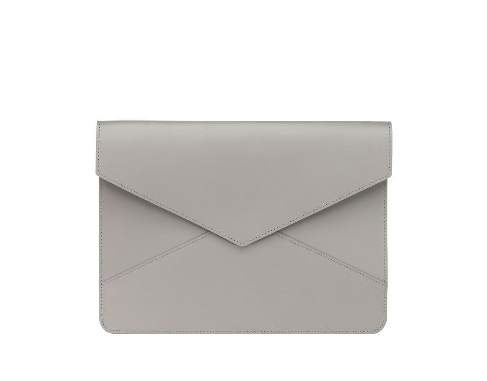 Envelope Leather Case, Light Grey