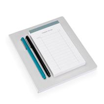 Set med mjuk anteckningsbok och att göra-lista, Ljusgrå och Ljusgrön
