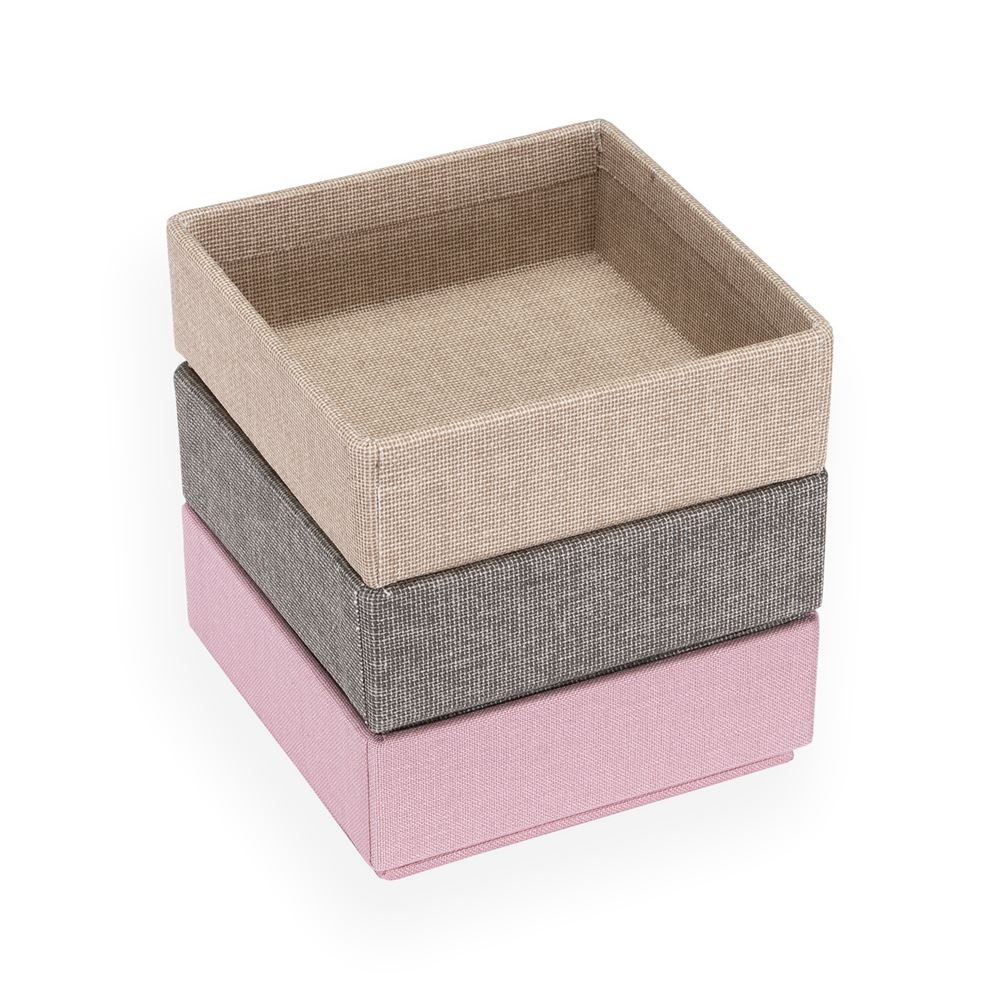 Geschenkset Stapelbare Boxen, Dusty Pink/Light Grey/Sand