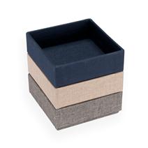 Bedside Table Boxes, Smoke Blue/Pebble Grey/Sand Brown