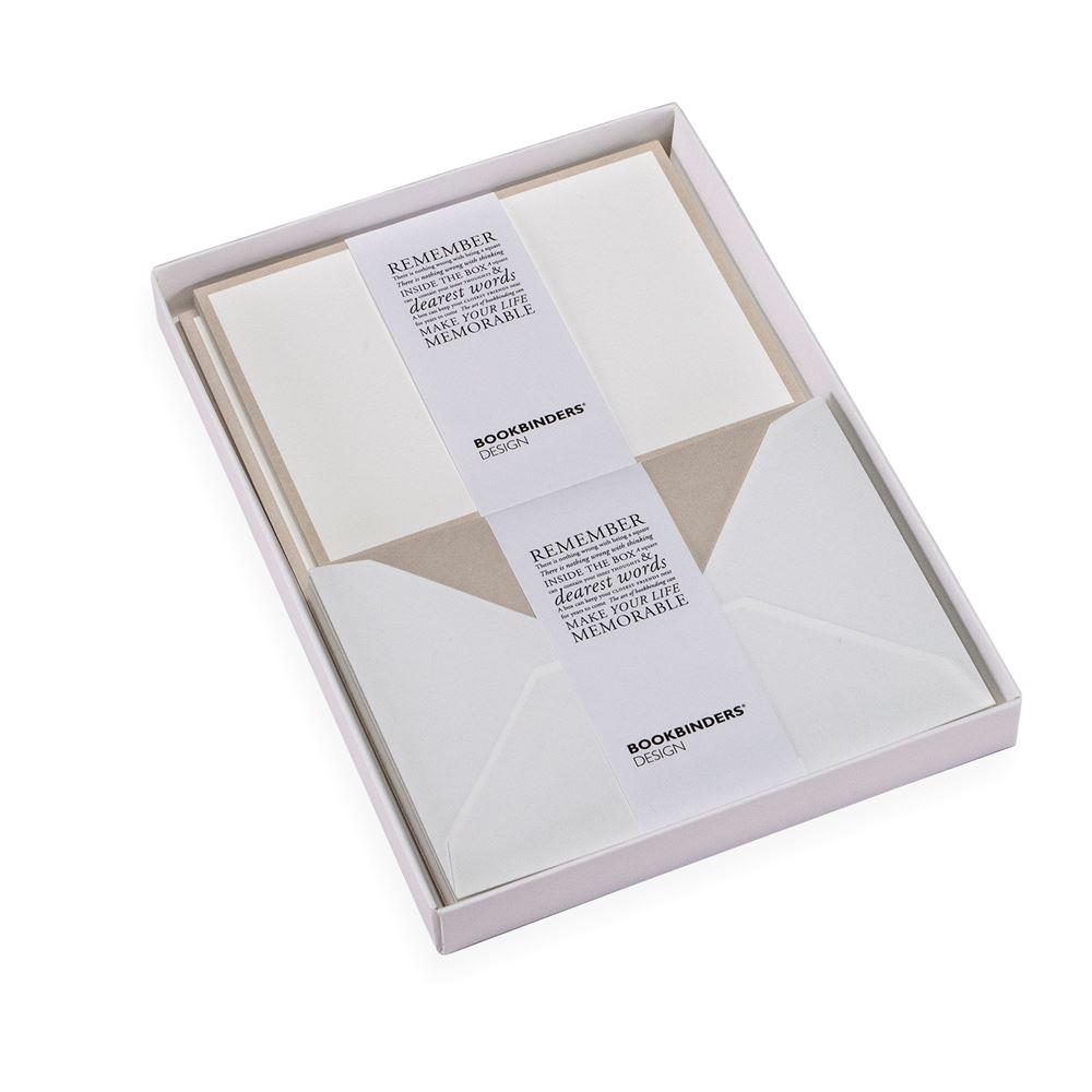 Set med brevpapper, Ljusgrå