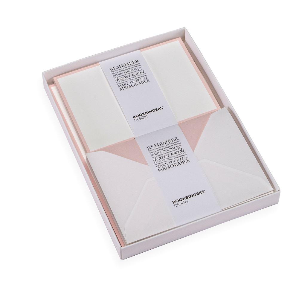Set med brevpapper, Puderrosa