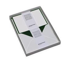 Set med brevpapper, Grön