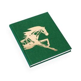 Carnet relié en toile, vert x Get the Gallop