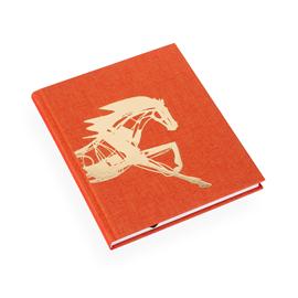 Carnet relié en toile, orange x Get the Gallop