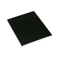 N. book Soft cover 170x200 lined Black