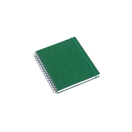 Notizbuch mit Ringbindung, green