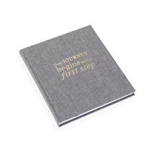 Inbunden anteckningsbok, Stengrå