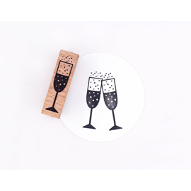 Stämpel Champagneglass