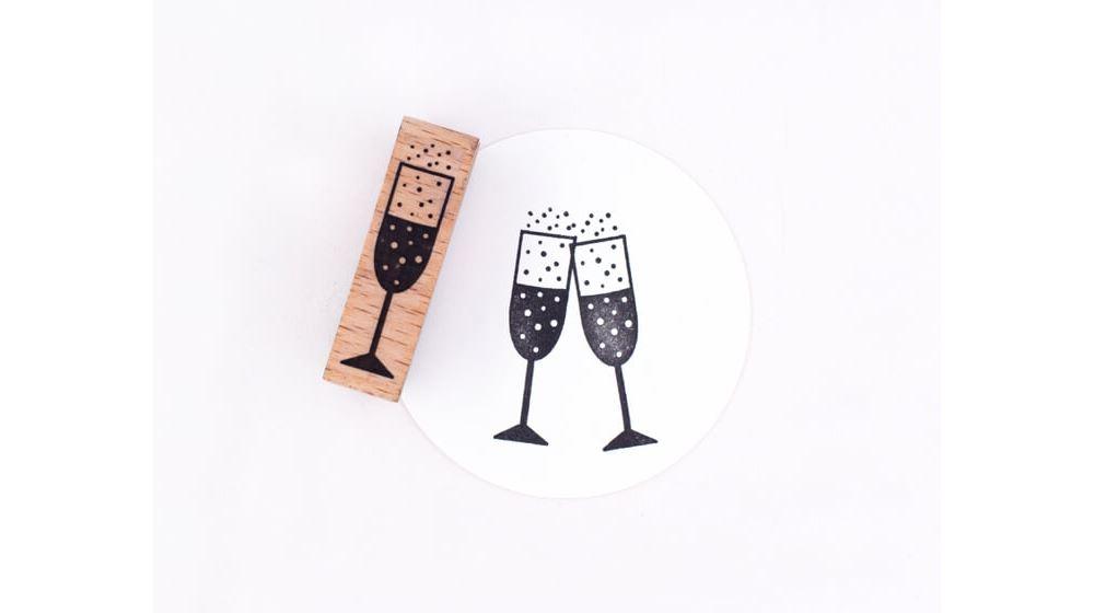 Stamp Champagne glass