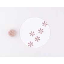 Tampon, fleur simple