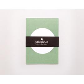Vykort,  Pastellgrön med vit cirkel