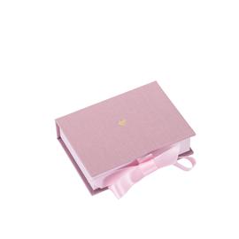 Box cloth/paper mini Ottawa Dusty pink Little heart Gold