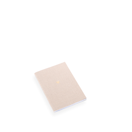 NOTEBOOK STITCHED, SAND BROWN, HEART