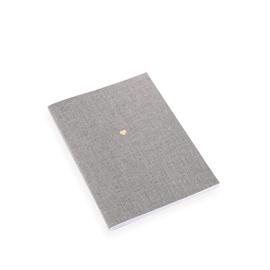 Carnet souple en toile, Pebble Grey