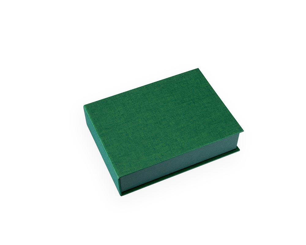Vävklädd Box, KlöverGrön