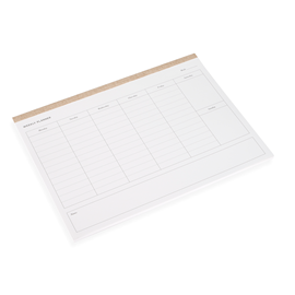 Weekly Planner, Sand Brown