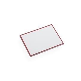Cartes de Correspondance et Enveloppes, Rouge