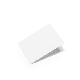 Carte format paysage, blanc