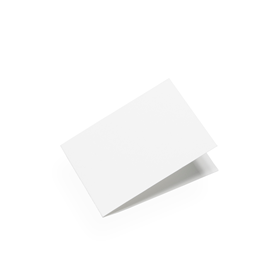 Cartes format paysage, papier de coton blanc