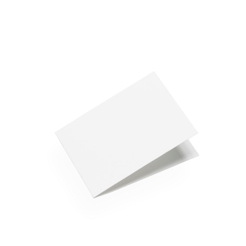 Faltkarte, Weiss, Querformat
