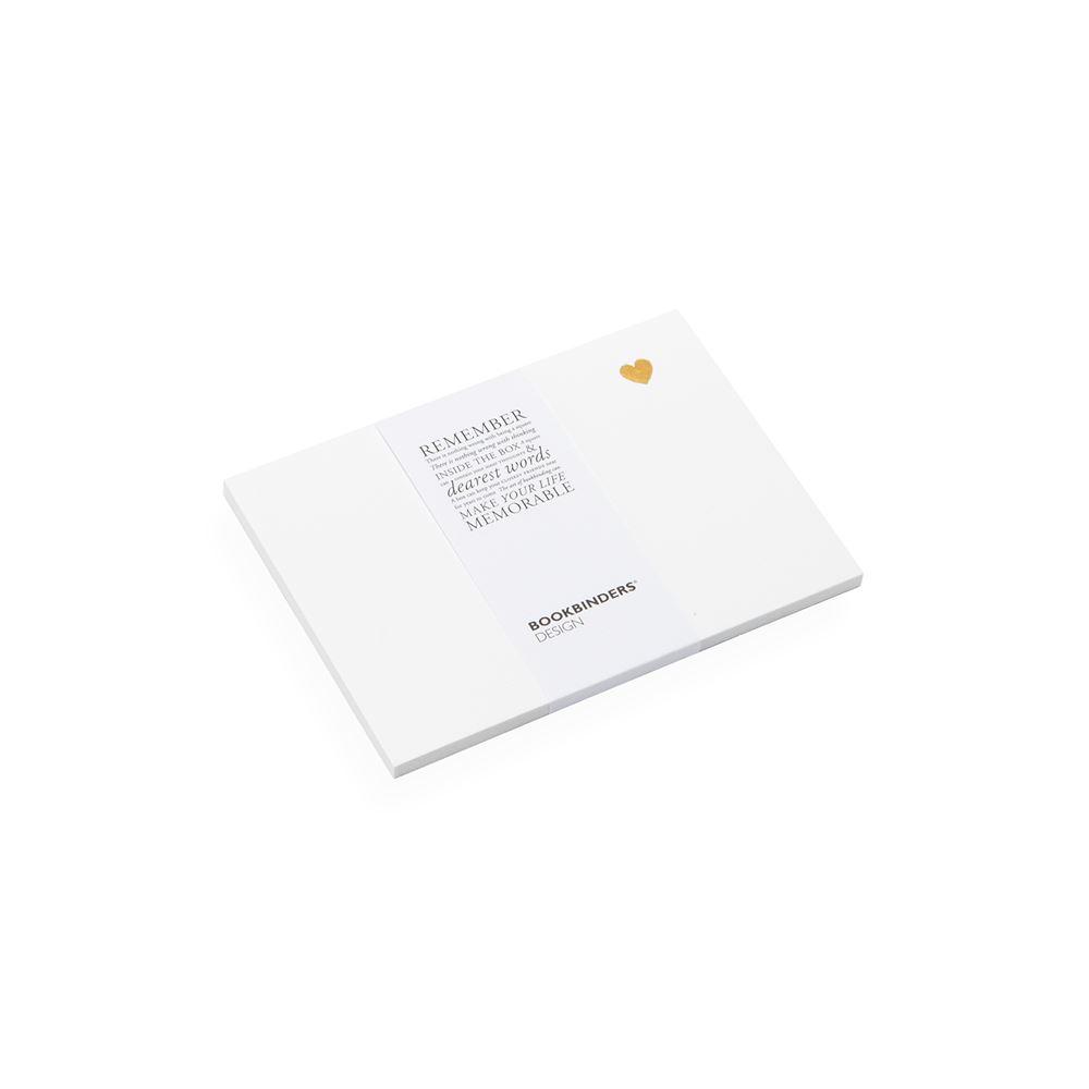 Cartes de correspondance avec petit cœur