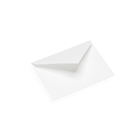 Cotton paper envelope, white