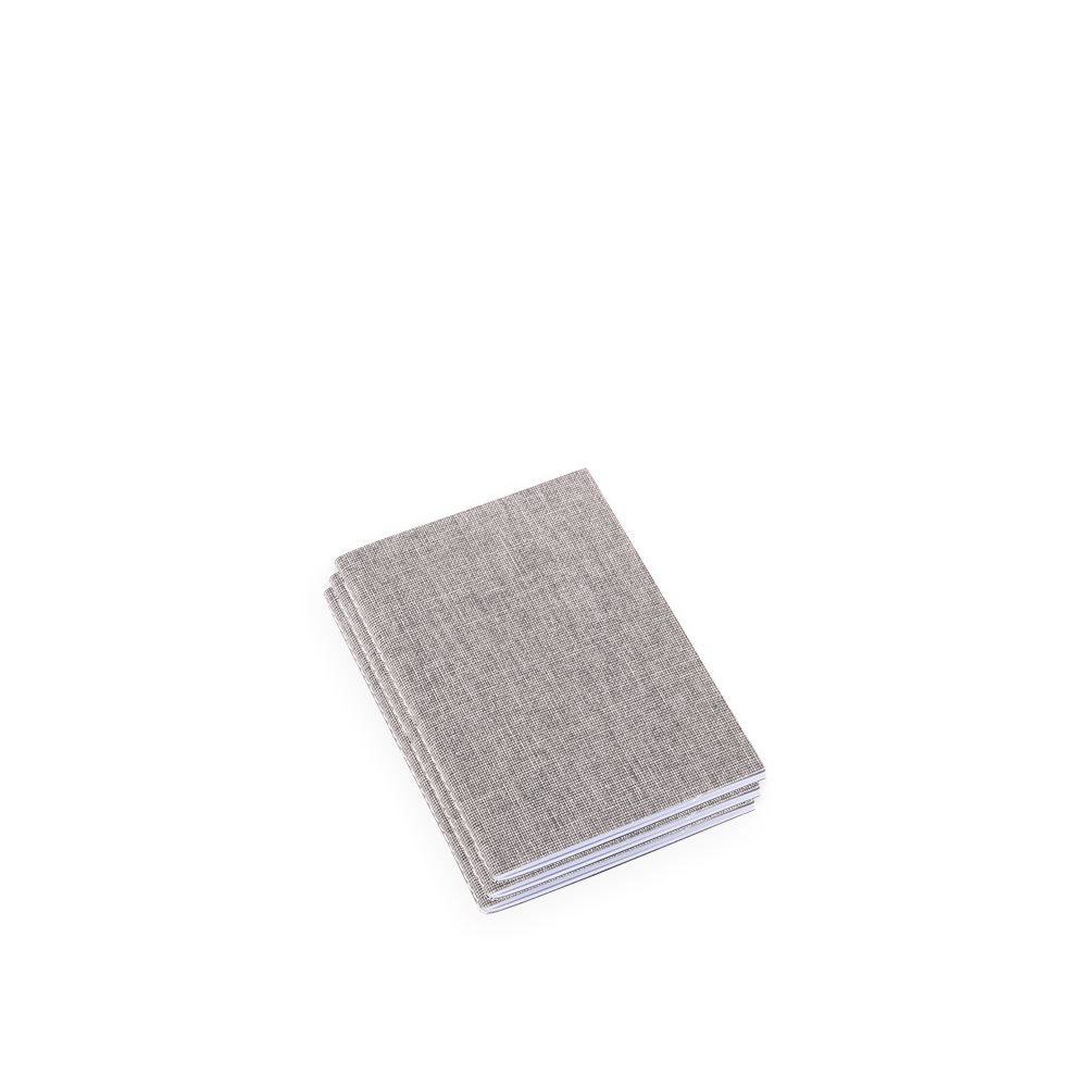 Notebook Stitched, Pebble Grey
