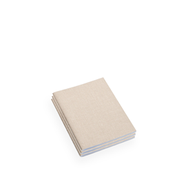 Carnet souple en toile, Sand Brown