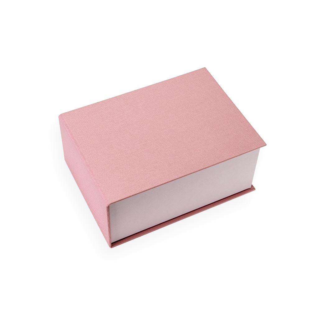 Vävklädd Box, Puderrosa