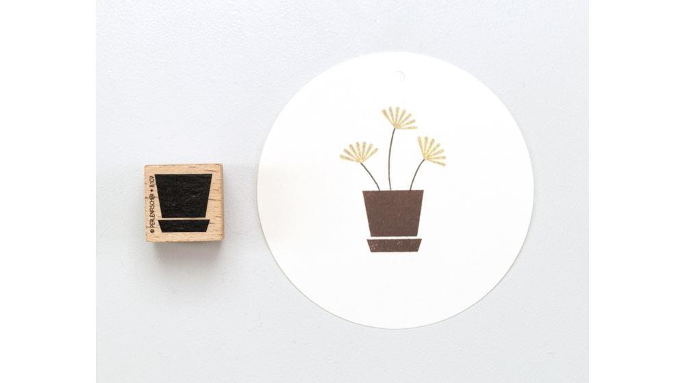 Tampon, pot de fleurs