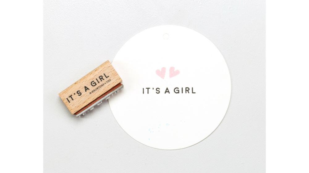 Stämpel  IT`S A GIRL